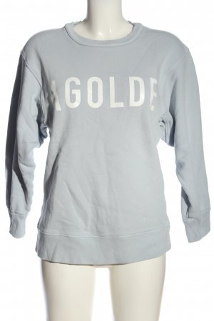 AGOLDE Sweatshirt hellgrau-weiß Schriftzug gedruckt Casual-Look