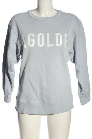AGOLDE Sweatshirt hellgrau Schriftzug gedruckt Casual-Look