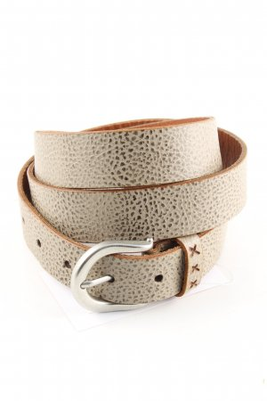 Ahlemeister GmbH Leather Belt natural white-brown casual look