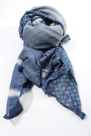 Ahmaddy Szal letni niebieski-biały Graficzny wzór W stylu casual