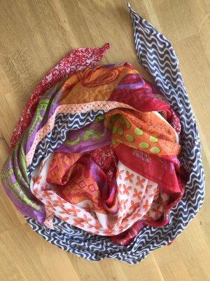 Ahmaddy Sciarpa di seta multicolore