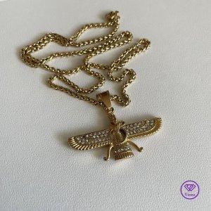 ♈️ Ahura Mazda Farvahar Halskette Anhänger, Neu