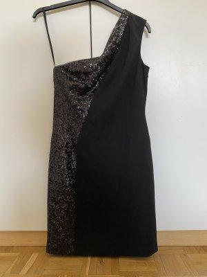 Aidan Mattox Vestido de cóctel negro Poliéster