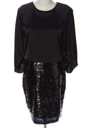 Aidan Mattox Vestido de noche negro elegante