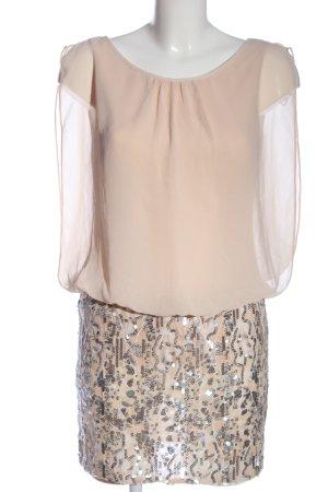 Aidan Mattox Mini vestido crema elegante