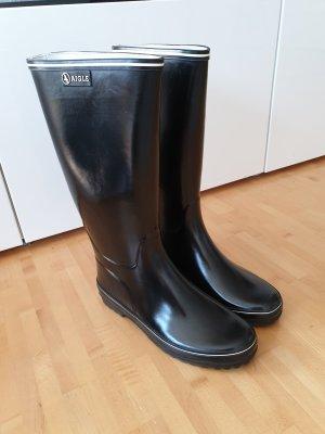 Aigle Wellington laarzen wit-zwart