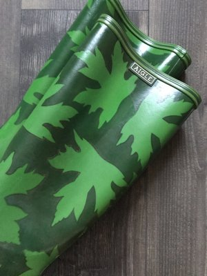 Aigle Botte en caoutchouc vert forêt-gris vert