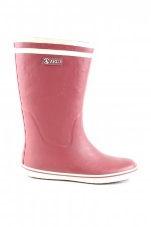 Aigle Wellies red-natural white casual look