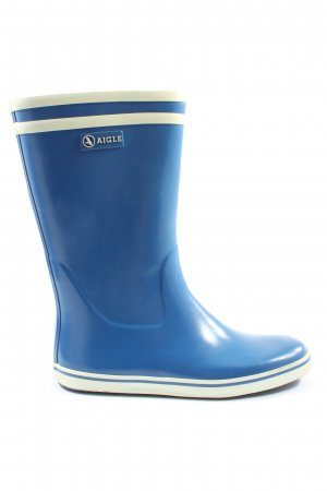 Aigle Wellies blue striped pattern casual look