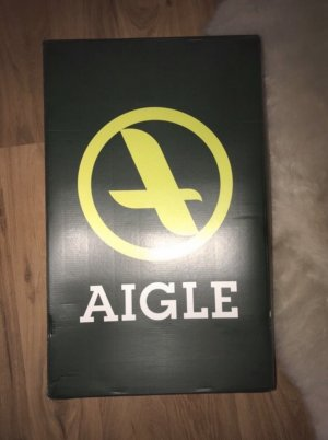 Aigle Gumowe buty brązowy