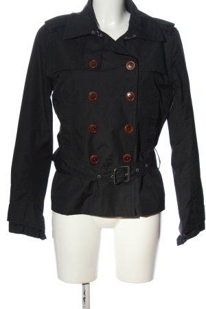 Aigle Krótki płaszcz czarny W stylu casual