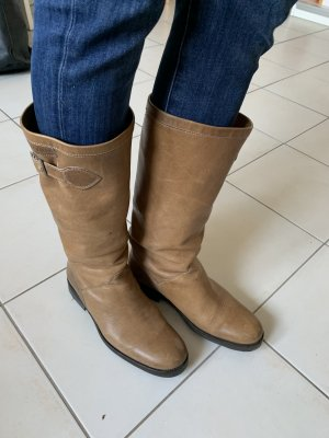 Aigle Heel Boots beige leather