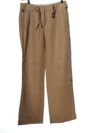Aigle Lniane spodnie brązowy W stylu casual