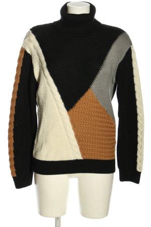 Aigle Sweter z golfem Warkoczowy wzór W stylu casual
