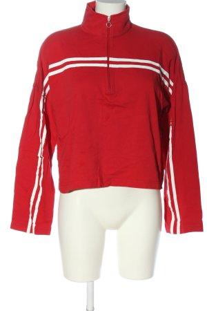 Aigle T-shirt de sport rouge motif rayé style décontracté