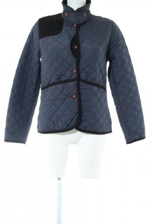 Aigle Quilted Jacket blue-black quilting pattern casual look