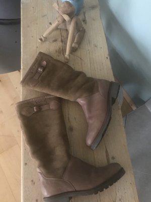 Aigle Botas de equitación marrón grisáceo Cuero