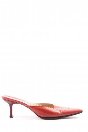 Aigner Heel Pantolettes red casual look