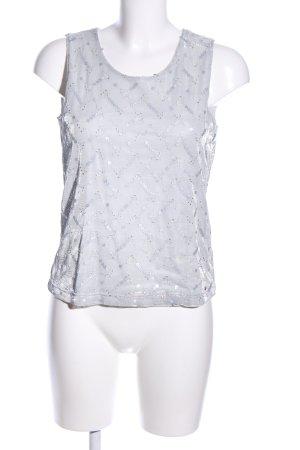 Aigner Mouwloze blouse lichtgrijs bloemenprint casual uitstraling