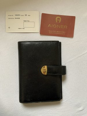 Aigner Card Case black leather