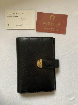 Aigner Porte-cartes noir cuir