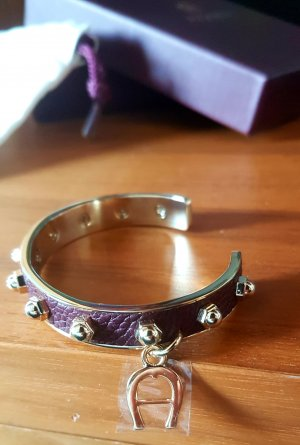 Aigner Armband in Bordeaux und Gold