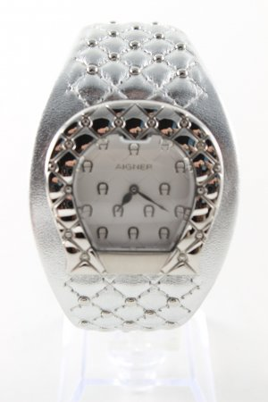 Aigner Self-Winding Watch silver-colored graphic pattern business style