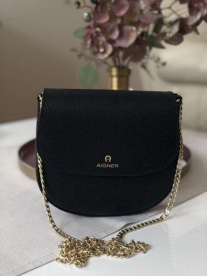 Aigner Ava Tasche schwarz gold Crossbody