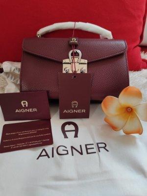 Aigner Burgund Farbe Tasche