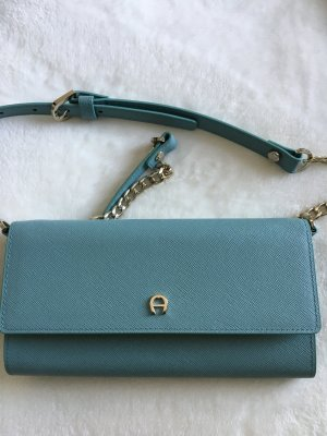 Aigner Clutch pale blue leather