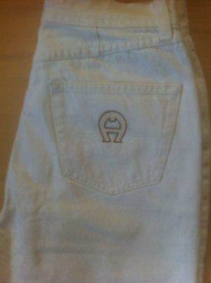 Aigner Jeans 3/4 blanc-blanc cassé coton