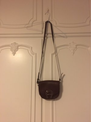 Aigner Crossbody bag bordeaux-gold-colored leather