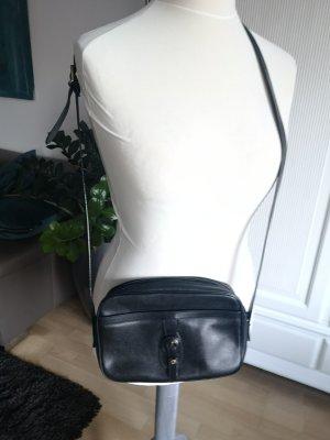 Aigner Crossbody bag black-dark blue leather