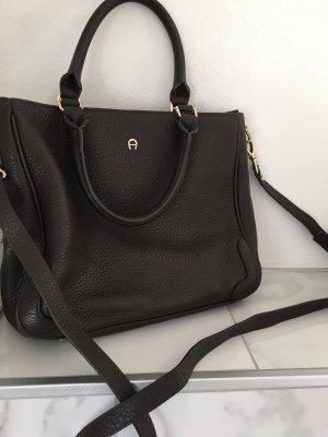 Aigner Handbag dark brown leather