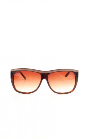 Aigner eckige Sonnenbrille hellorange-braun Casual-Look