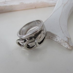 Aigner * Edler 925er Silber Ring * drei Hufeisen * 18/19 TOP