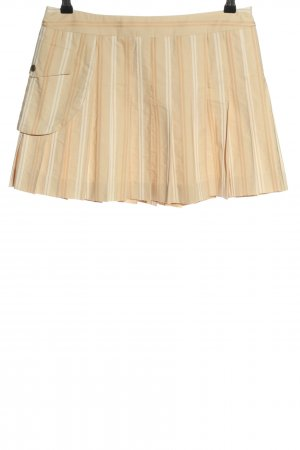 Aigner Plaid Skirt cream-white striped pattern casual look