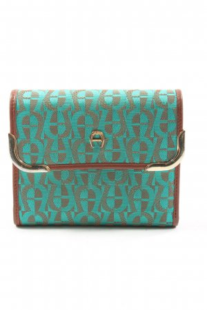 Aigner Wallet turquoise-brown casual look