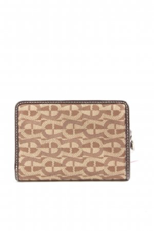 Aigner Wallet natural white-brown striped pattern casual look