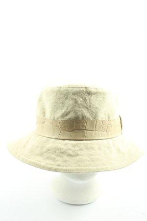 Aigner Chapeau à larges bords blanc cassé style décontracté