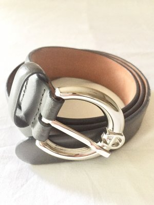 Aigner Leather Belt grey
