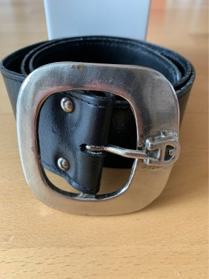Aigner Leather Belt black leather