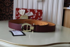 Aigner Leather Belt bordeaux