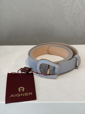 Aigner Leather Belt light grey