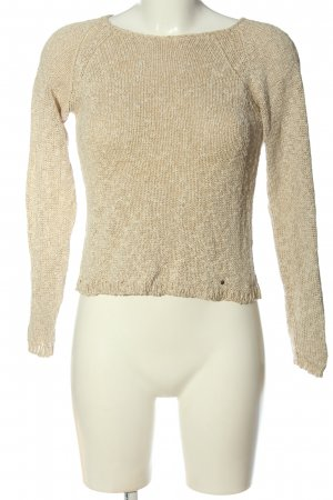 Aigner Crochet Sweater natural white cable stitch elegant