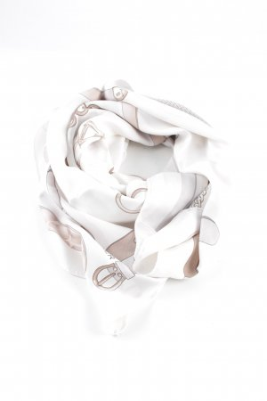 Aigner Neckerchief white-brown themed print casual look