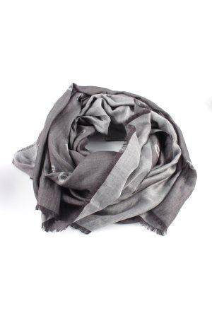 Aigner Foulard gris clair-brun imprimé avec thème style décontracté