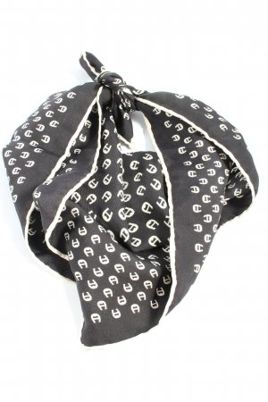 Aigner Neckerchief black-white allover print casual look