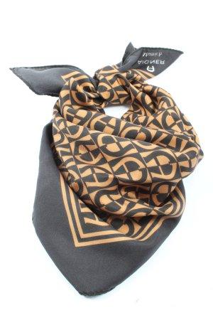 Aigner Foulard noir-orange clair imprimé allover style décontracté