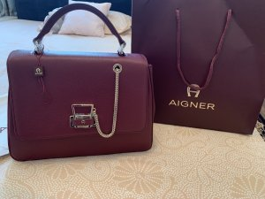 Aigner Handbag carmine-bordeaux leather